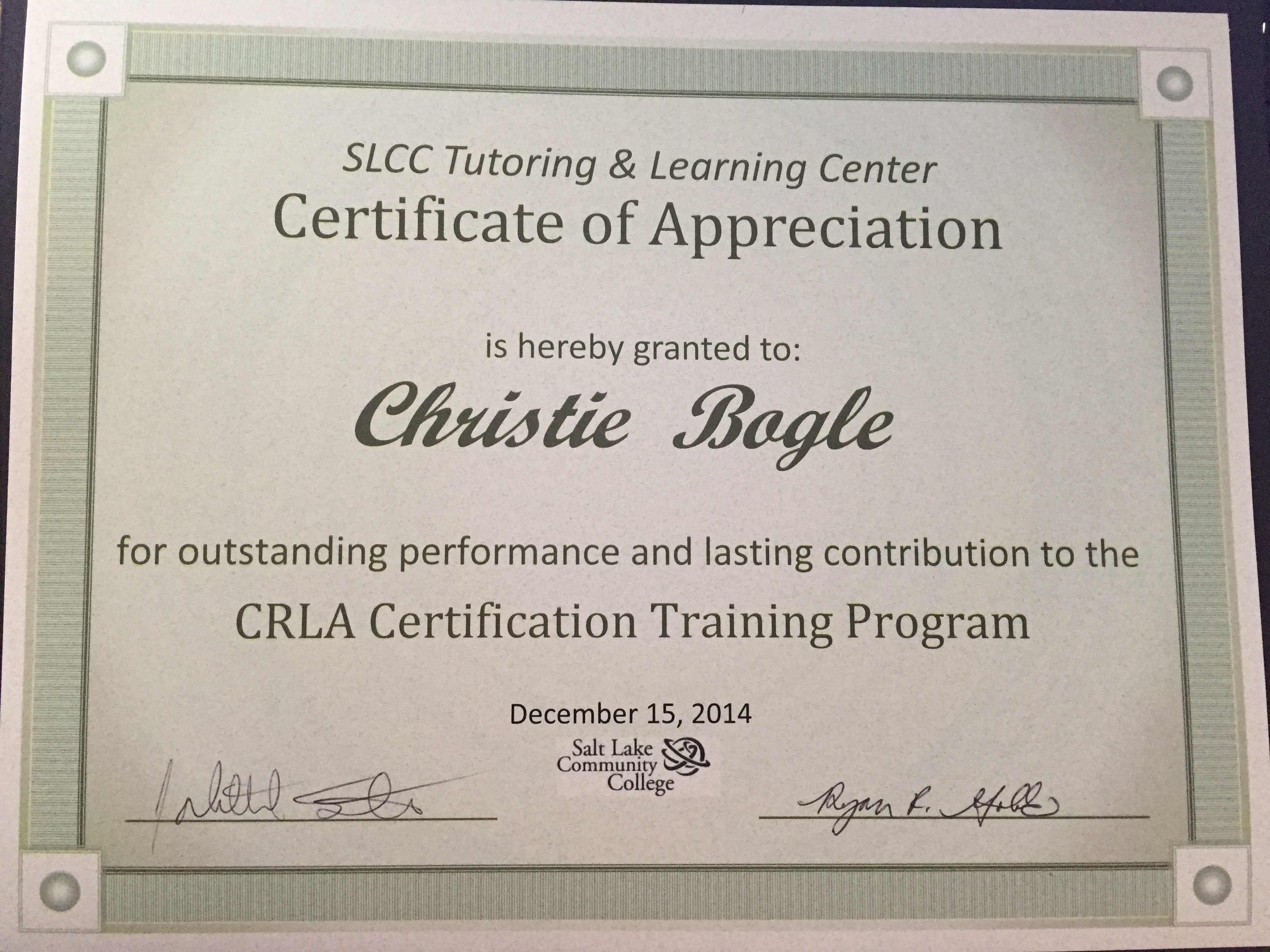 Crla Tutor Certification And Step